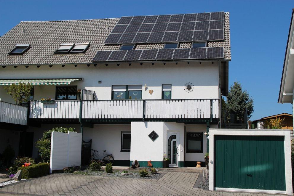 Haus von Kunde mit Photovoltaikanlage